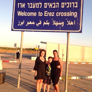 with Sonja before crossing to Kfar Azza