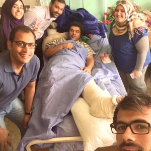 Here I am at the hospital visiting a friend who was wounded in an explosion last week. Another friend of ours was killed in the same bombing. In Iraq, we suffer such attacks and experience such tragedies all the time.<br />