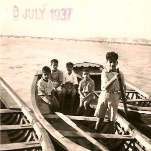 Row, row, row your boat gently down the stream, the Tigris River, 1937.
