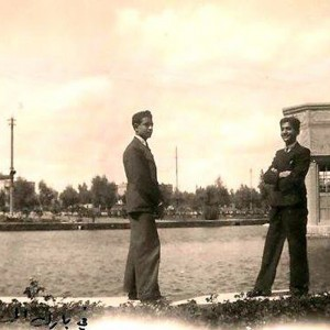 Naim & Shafick from the Chitayat clan on the bank of the lake in Al-Saadoun Park, Baghdad.