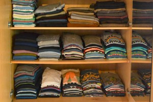 -this is Boaz's closet....mine is the oposite