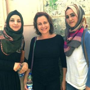 with Haya and Aysha