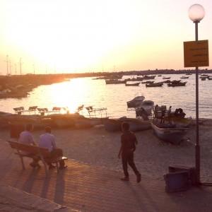 the Gaza promenade