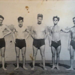 Swimming at the Tigris river, early 1940s.
