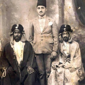 My grandfather, Georgy Chitayat, with the Amir of Kuwait in 1923.