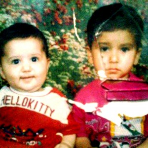 -I'im the one on the right, 2 years old